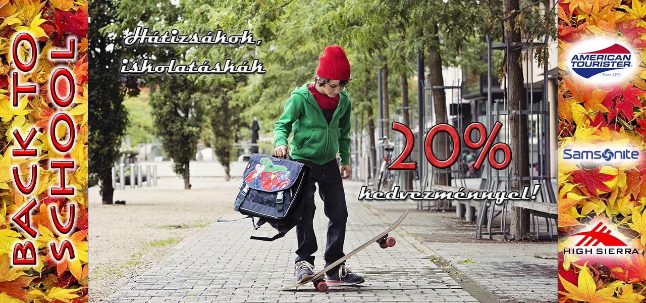 20% Hátizsák, iskolatáska akció!